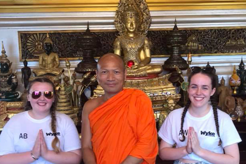 Students on a visit to Thailand