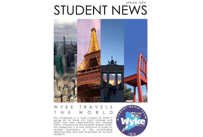 Wyke's Student Media Teams First Magazine!