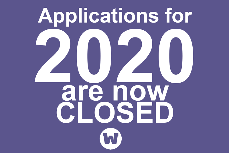 2020 Applications Closed