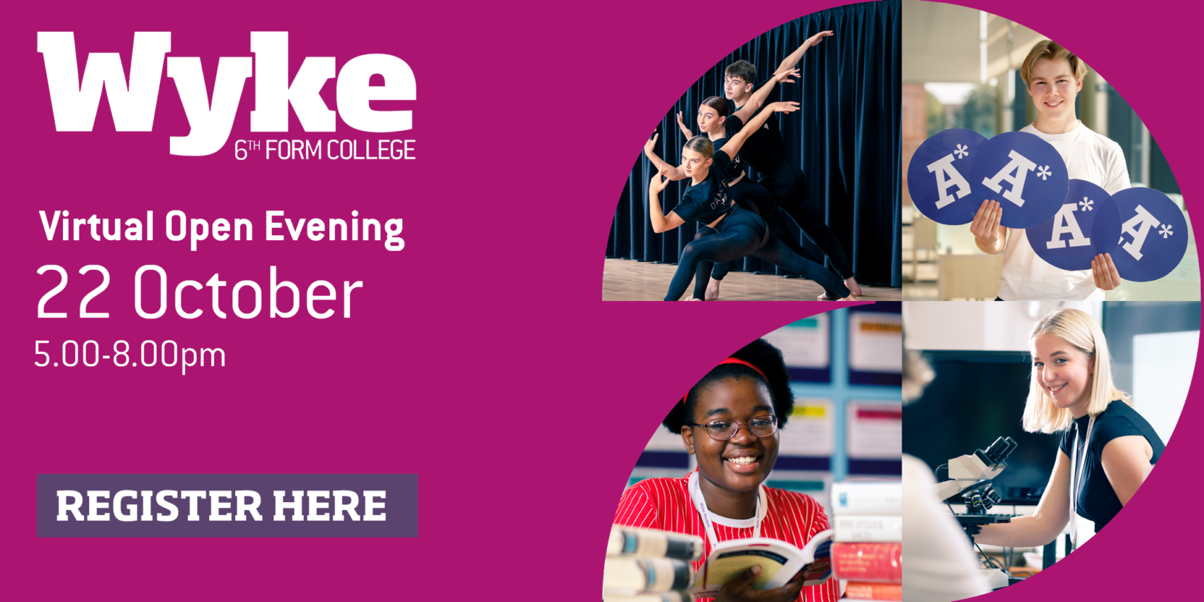 Virtual Open Evening Register Here