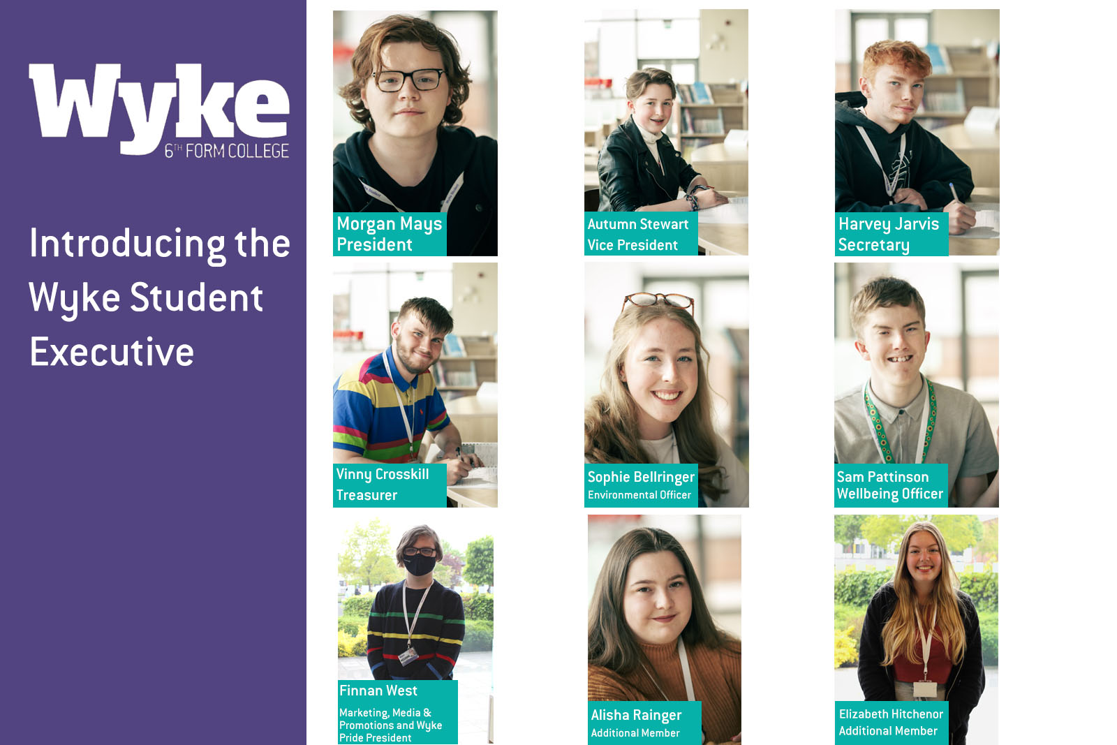 Image of the new Wyke Student Executive